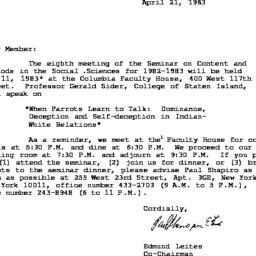 Correspondence, 1983-04-21....