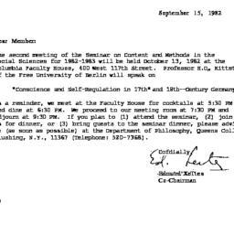 Correspondence, 1982-09-15....