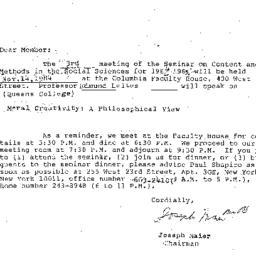 Announcements, 1984-10-09. ...