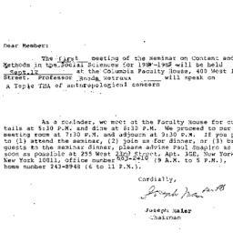 Announcements, 1985-09-12. ...