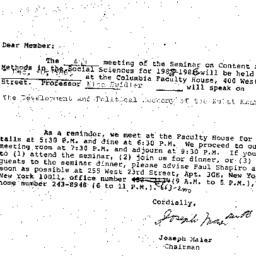 Correspondence, 1986-11-01....