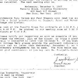 Announcements, 1987-12-09. ...