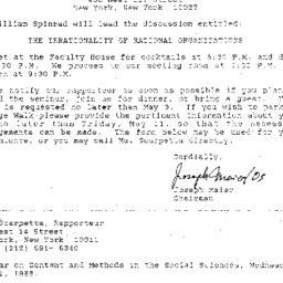 Announcements, 1988-05-11. ...