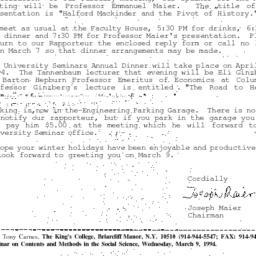 Correspondence, 1994-02-28....