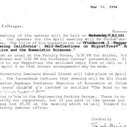 Correspondence, 1994-03-30....
