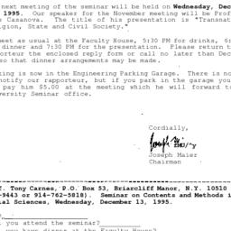 Correspondence, 1995-11-25....