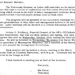Announcements, 1960-10-05. ...