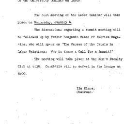 Announcements, 1960-12-27. ...