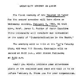 Announcements, 1966-02-09. ...