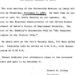 Announcements, 1966-11-15. ...