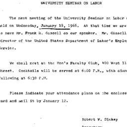 Announcements, 1966-12-28. ...