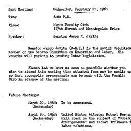 Announcements, 1968-02-21. ...