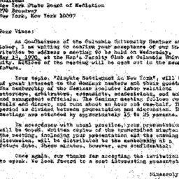 Announcements, 1970-04-13. ...