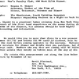 Announcements, 1969-11-19. ...