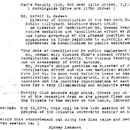 Announcements, 1971-04-21. ...