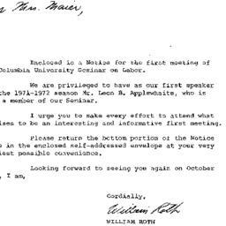 Announcements, 1971-10-26. ...
