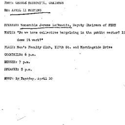 Announcements, 1973-04-11. ...