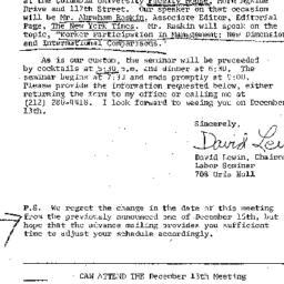 Announcements, 1976-11-12. ...