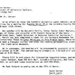 Announcements, 1980-03-11. ...