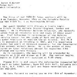 Announcements, 1980-10-24. ...