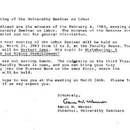 Announcements, 1983-02-25. ...