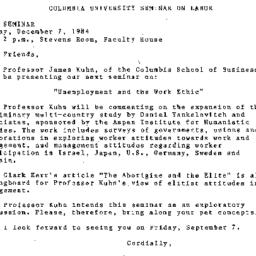 Announcements, 1984-12-07. ...