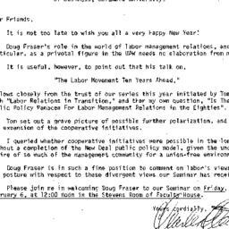 Announcements, 1987-01-27. ...