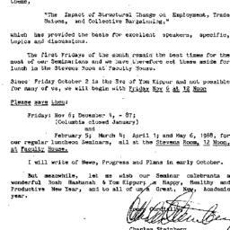 Announcements, 1987-09-22. ...
