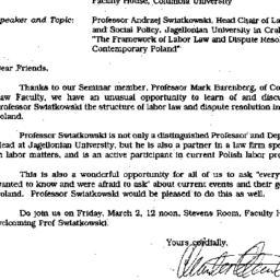 Announcements, 1990-02-20. ...