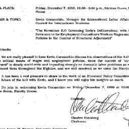Announcements, 1990-11-29. ...