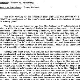Minutes, 1957-05-21. Develo...