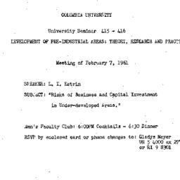 Announcements, 1961-02-07. ...