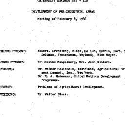 Minutes, 1966-02-08. Develo...