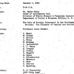Minutes, 1969-10-07. Develo...