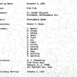 Minutes, 1969-12-09. Develo...