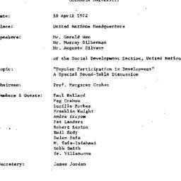 Minutes, 1972-04-18. Develo...