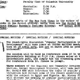 Announcements, 1972-03-28. ...