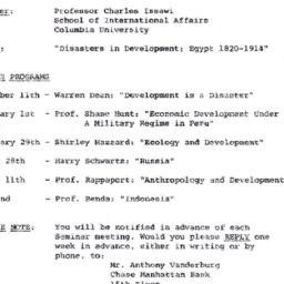 Announcements, 1971-11-09. ...