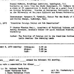 Announcements, 1973-02-08. ...