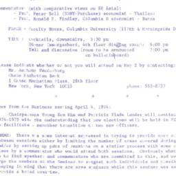 Announcements, 1974-05-02. ...