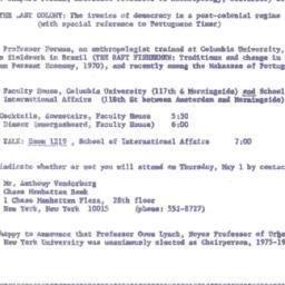 Announcements, 1975-05-01. ...