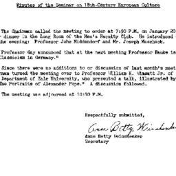 Minutes, 1965-01-20. Eighte...