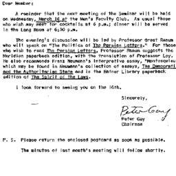 Announcements, 1966-03-08. ...