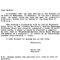 Announcements, 1967-02-07. ...