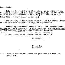 Announcements, 1967-05-08. ...