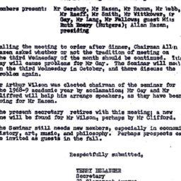 Minutes, 1968-05-15. Eighte...