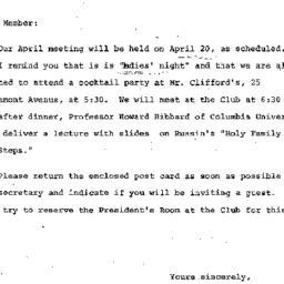 Announcements, 1972-04-05. ...