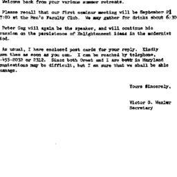 Announcements, 1972-09-01. ...
