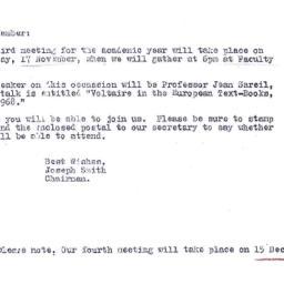 Announcements, 1977-11-01. ...