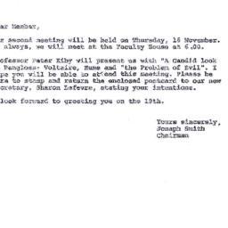 Announcements, 1978-11-01. ...
